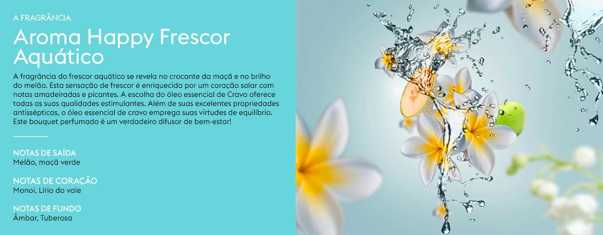 Aroma Happy Frai%CC%82cheur Aquatique Kit Perfume Happy Maison Berger 2 peças