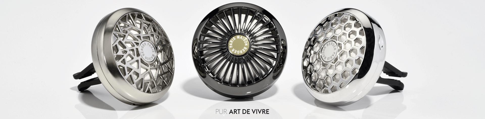 bandeau diffuseurs voiture 1 Kit Perfume Happy Maison Berger 2 peças