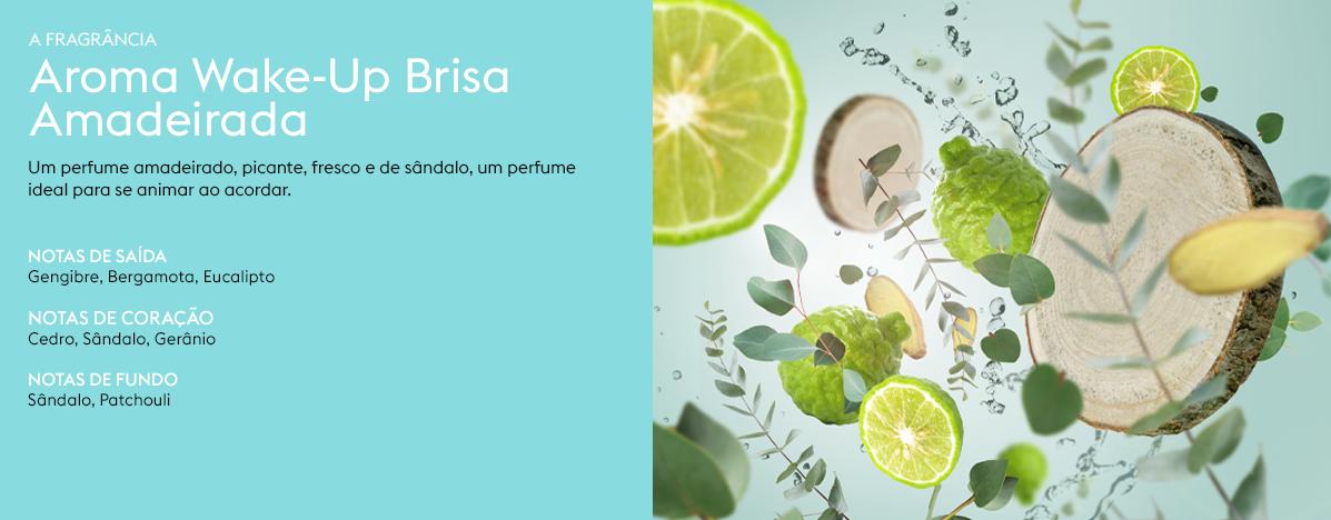 Aroma wakeupBrisaAmadeirada Kit Perfume Wake Up Maison Berger 2 peças